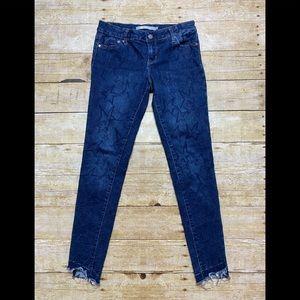 Tractr star stitched raw hem skinny jeans